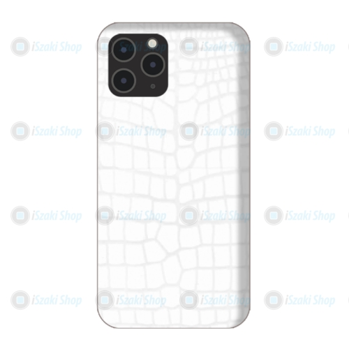 Fehér bőr Hátlapi egyedi decor védő fólia, iPhone készülékekre
